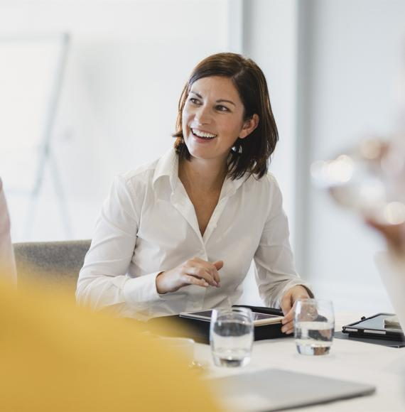 Female leader in a meeting