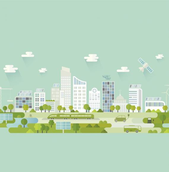 Green city illustration