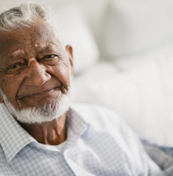 Elderly man from a BAME background