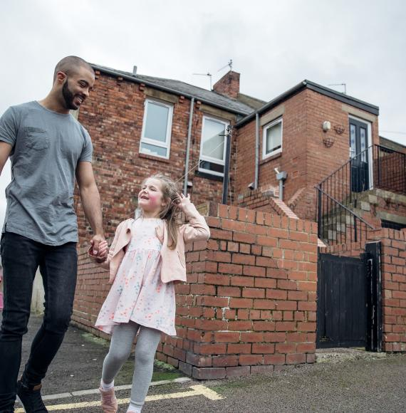 Father daughter housing estate