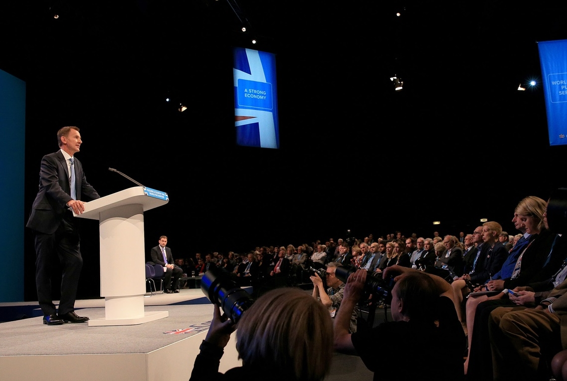 "Speaking at the Conservative Party conference in Manchester, the health secretary promised the largest increase in training ""in the history of the NHS"" to boost numbers by a quarter."